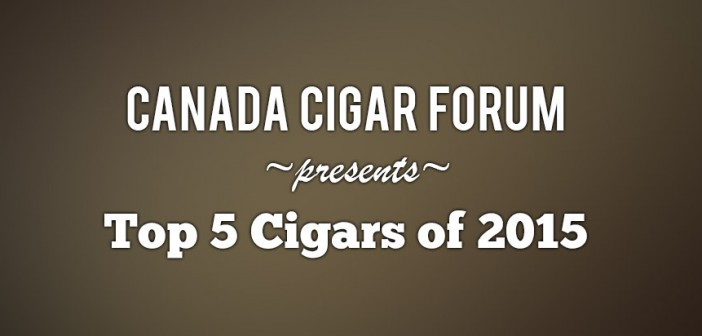 Top 5 Cigars of 2015